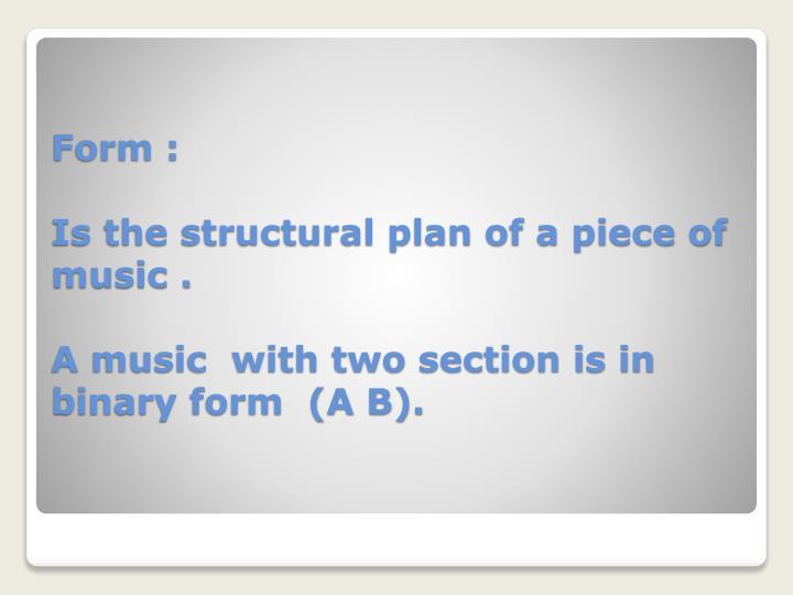 Form :