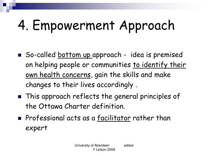 the empowerment approach