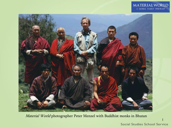 material world photographer peter menzel with buddhist monks in bhutan n.
