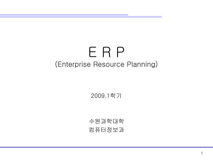 e r p enterprise resource planning n.
