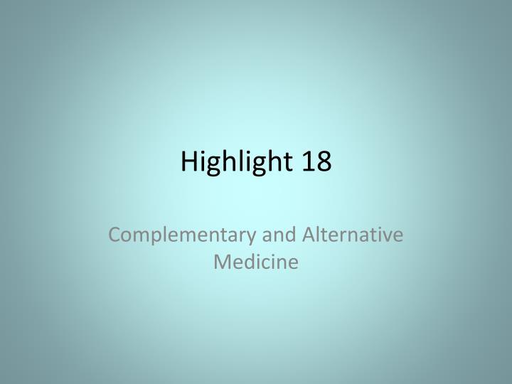 Highlight 18
