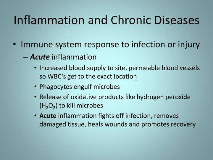 Inflammation and Chronic Diseases