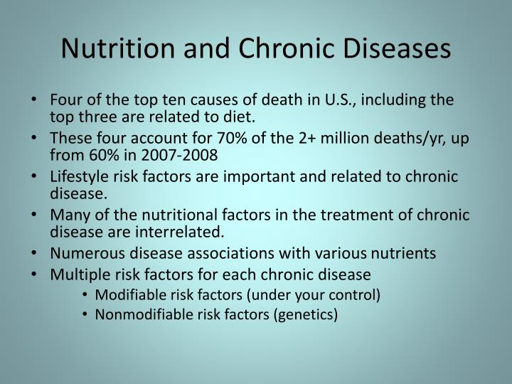 Nutrition and Chronic Diseases