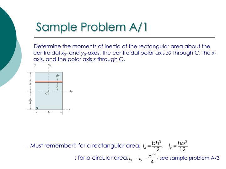 Sample Problem A/1