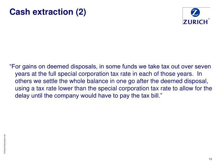 Cash extraction (2)