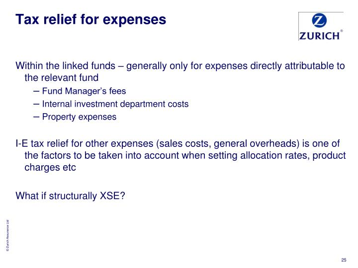 Tax relief for expenses