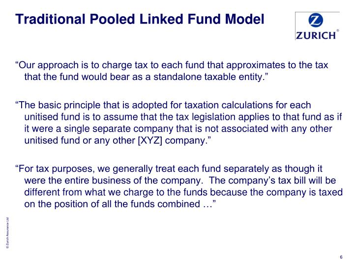 Traditional Pooled Linked Fund Model