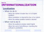 step 10 internationalization