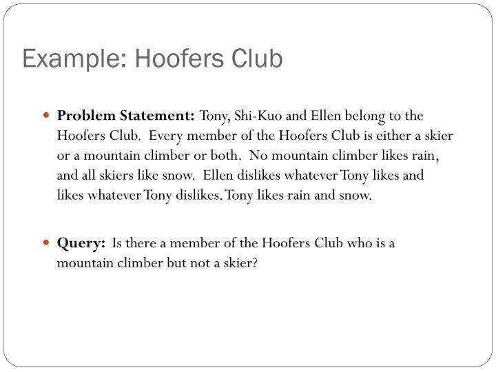 Example: Hoofers Club