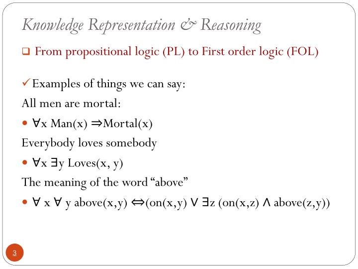 Knowledge representation reasoning1