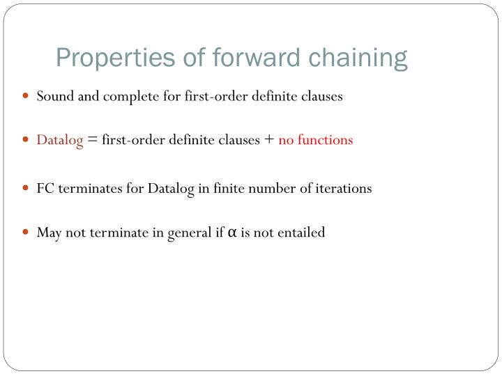 Properties of forward chaining