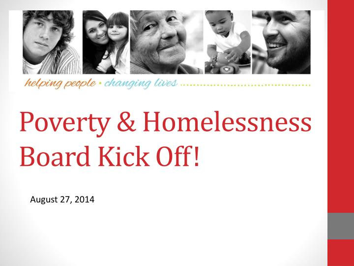 poverty homelessness board kick off n.