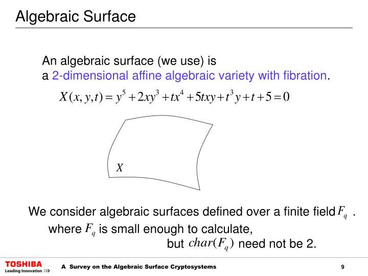 Algebraic Surface
