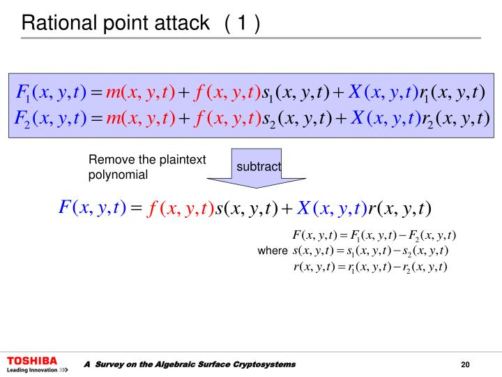 Rational point attack