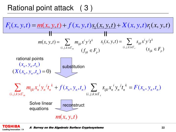 Rational point attack   ( 3 )