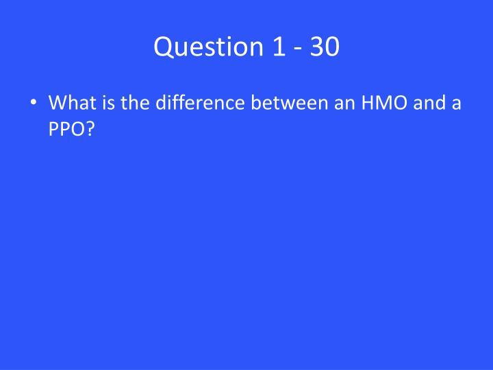 Question 1 - 30