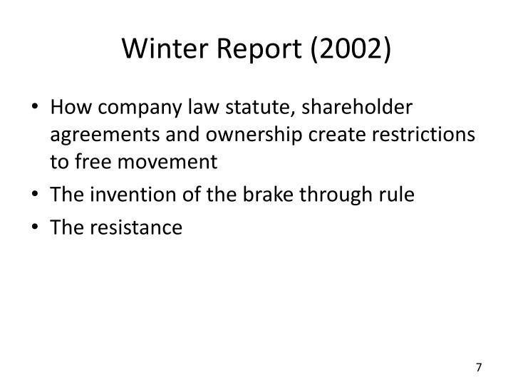 Winter Report (2002)