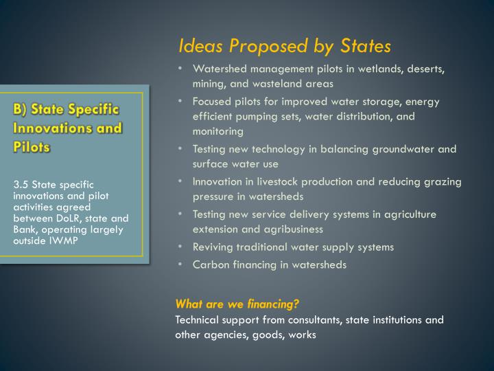 Ideas Proposed by States