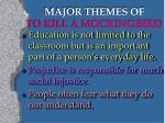 major themes of to kill a mockingbird