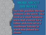 more about the novel