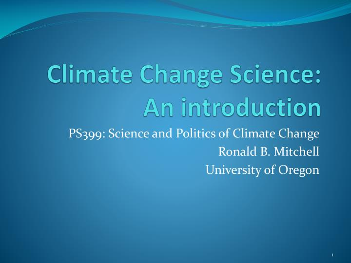 climate change science an introduction n.