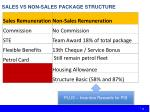 sales vs non sales package structure