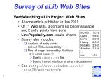 survey of elib web sites