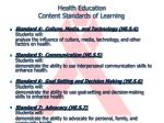 health education content standards of learning