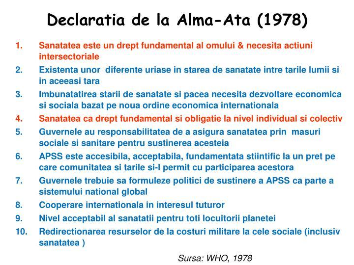 Declaratia de la Alma-Ata (1978)