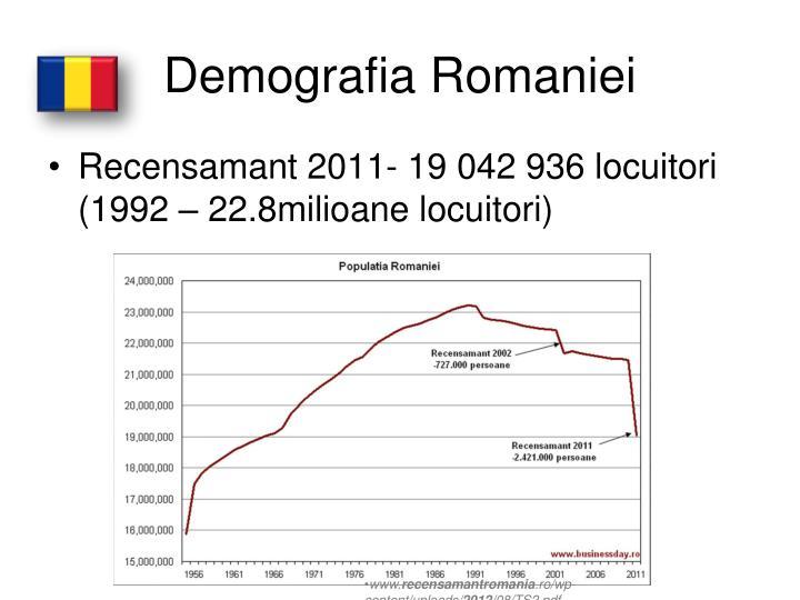 Demografia Romaniei