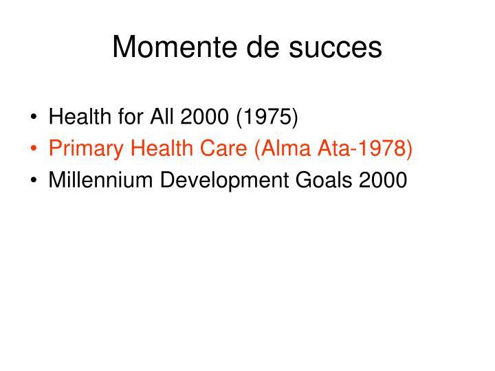 Momente de succes