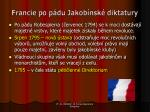 francie po p du jakob nsk diktatury
