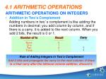 4 1 arithmetic operations