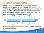 4 3 shift operations