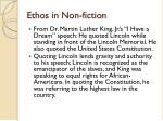 ethos in non fiction