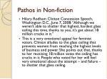 pathos in non fiction