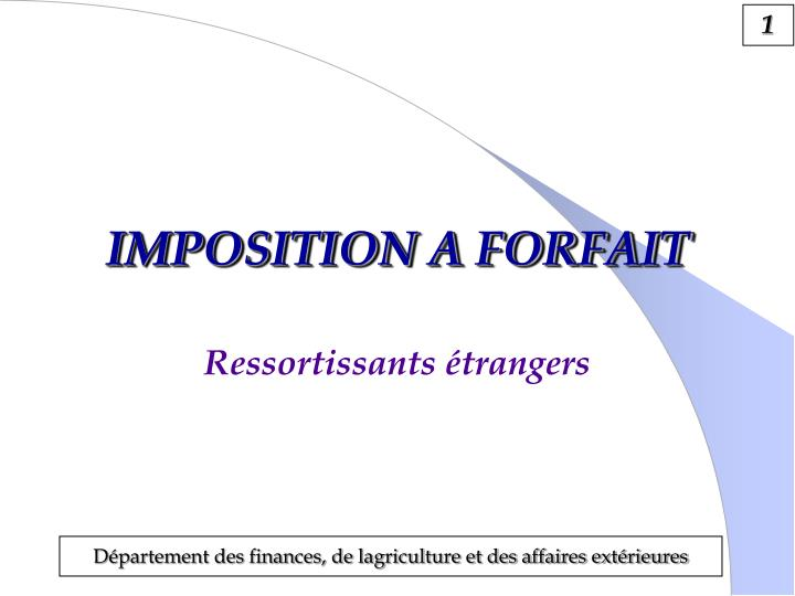 imposition a forfait n.
