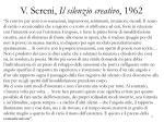 v sereni il silenzio creativo 1962