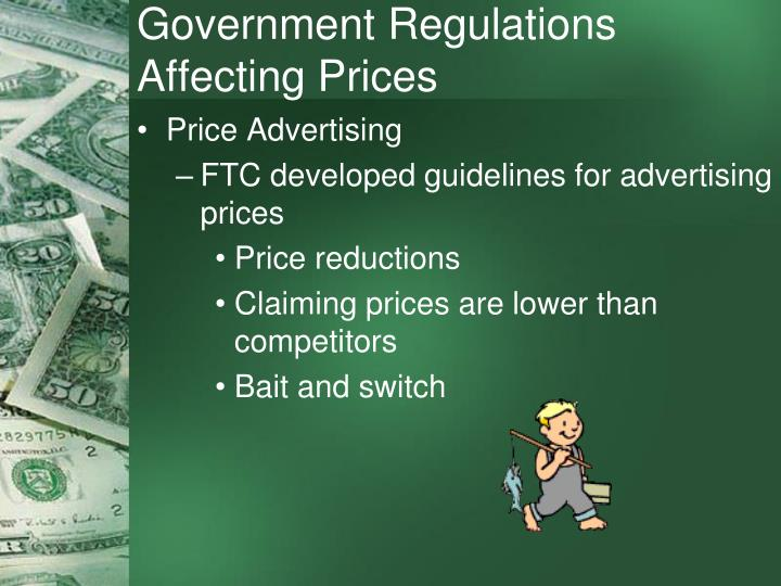 government regulations According to the library of economics and liberty, government regulations help avert market failures and improve unfairness within the system, but regulations also pose burdens upon businesses and.