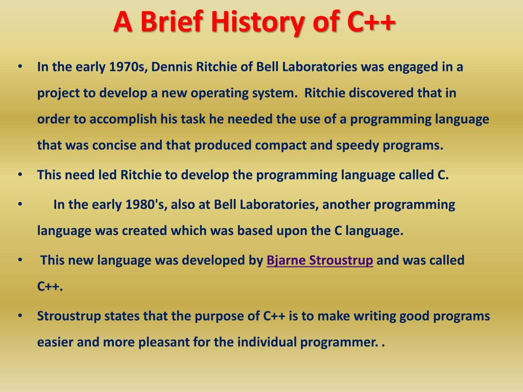 ec6792114a4926 PPT - A Brief History of C++ PowerPoint Presentation - ID:5846768