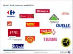 alcatel retail customers partial list