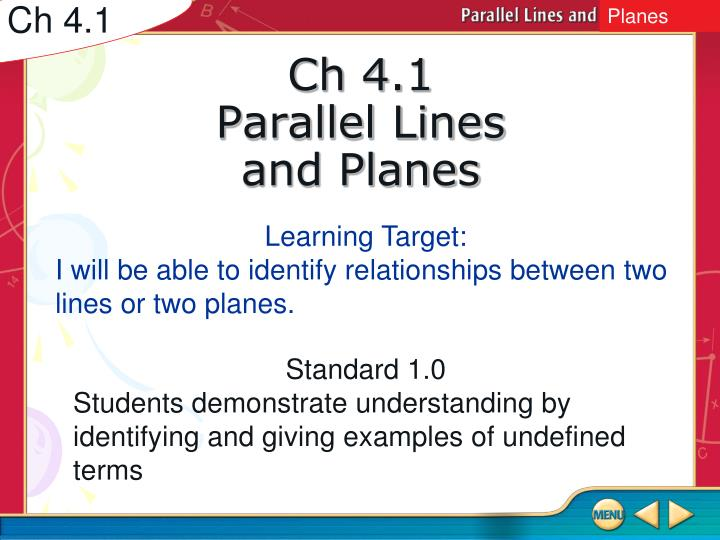 ch 4 1 parallel lines and planes n.