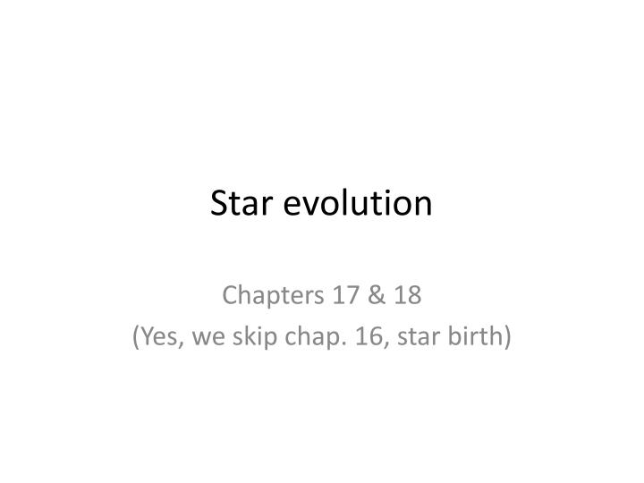 star evolution n.