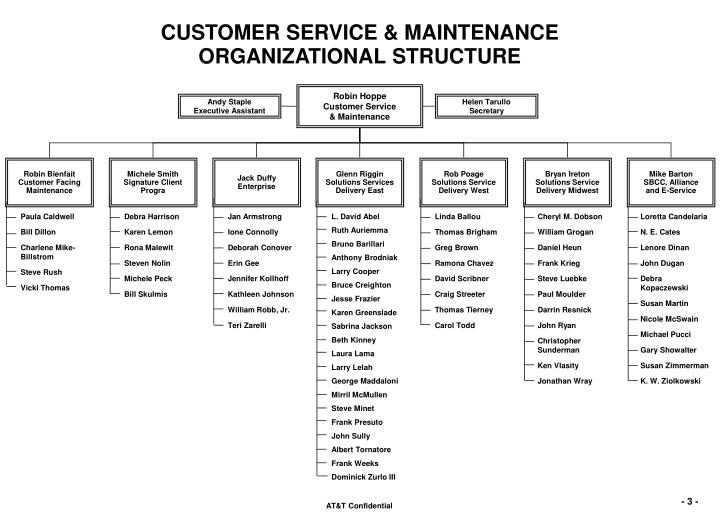 Ppt Customer Service Organizational Structure Overview