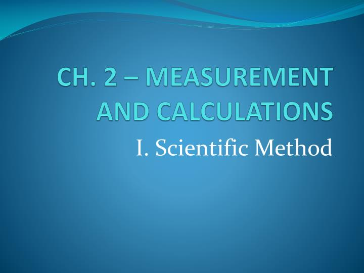 ch 2 measurement and calculations n.