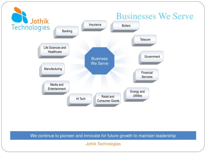 Businesses We Serve