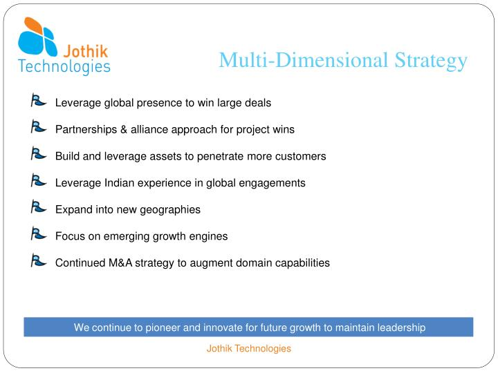 Multi-Dimensional Strategy