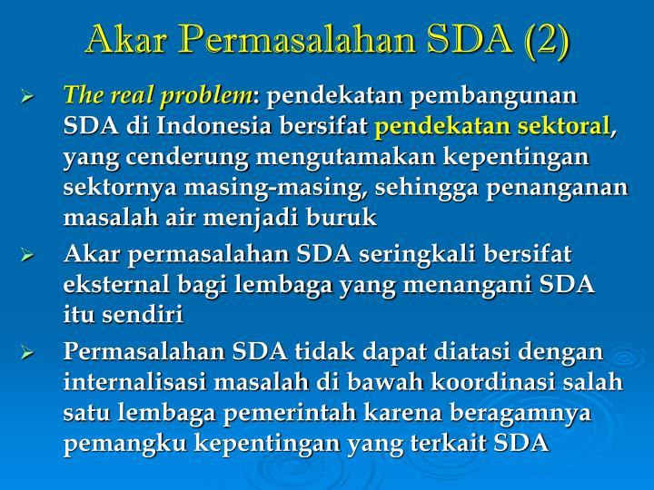 Akar Permasalahan SDA (2)