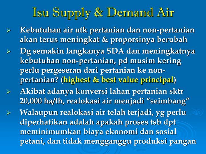 Isu Supply & Demand Air