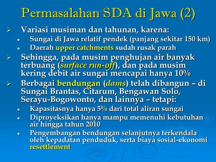 Permasalahan SDA di Jawa (2)